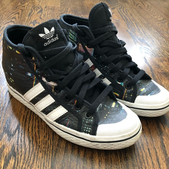 new product 7dc91 740e9 adidas Shoes - Women s Adidas high heel black sneakers
